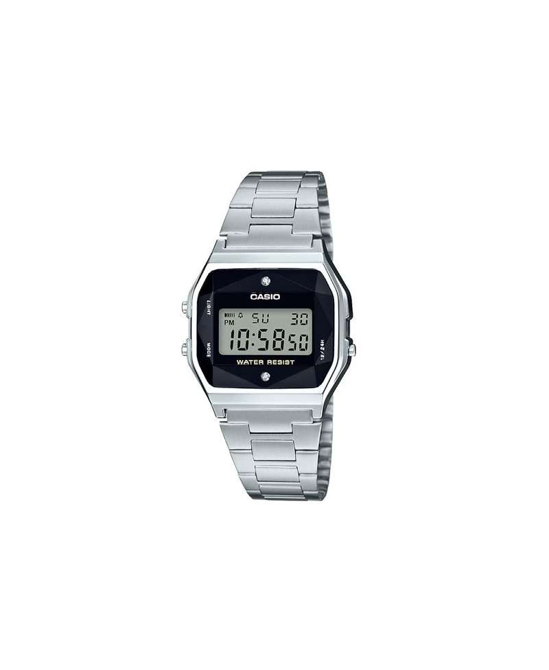 7cd6b3ba72da Reloj Casio Collection Retro con Diamantes A158WEAD-1EF