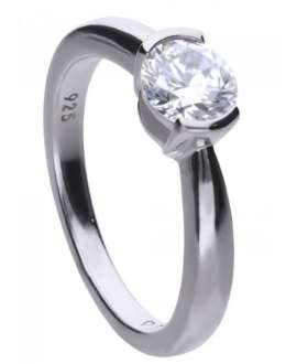 Anillo Diamonfire Solitario en Plata 6118781082