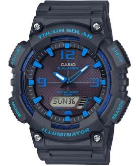 Reloj Casio Collection Tough Solar Anadigi todo negro y azul AQ-S810W-8A2VEF