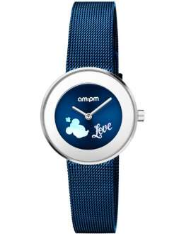 Reloj am:pm Analógico Disney Minnie en Azul DP150-U327
