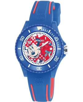 Reloj am:pm Disney Minnie correa de Silicona Azul y roja DP186-K475
