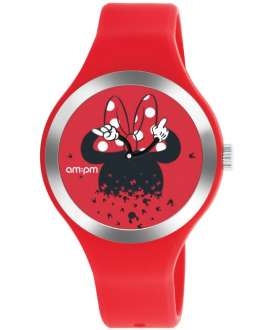 Reloj am:pm Analógico Disney Minnie correa de Silicona Roja DP155-U535