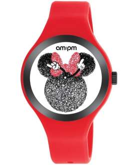 Reloj am:pm Analógico Disney Minnie correa de Silicona Roja DP155-U534