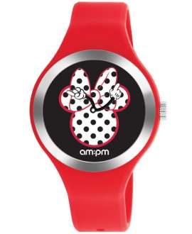 Reloj am:pm Analógico Disney Minnie correa de Silicona Roja DP155-U530