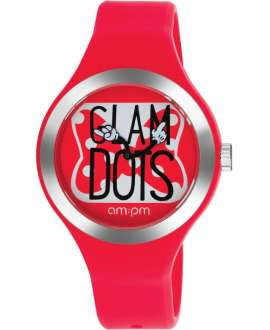 Reloj am:pm Analógico Disney Minnie correa de Silicona Roja DP155-U352