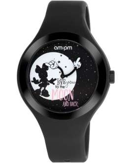 Reloj am:pm Analógico Disney Minnie correa de Silicona Negra DP155-U348