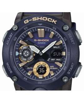 anadigi hombre Casio G-Shock GA-2000-2AER Carbon Core Guard Azul