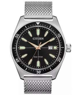 Reloj Citizen Off Collection Hombre Eco-Drive AW1590-55E malla acero