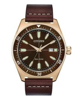 Reloj Citizen Hombre Off Collection Eco Drive AW1593-06X Dorado con correa