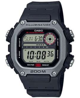 Reloj para hombre digital Casio Collection Negro/Plateado DW-291H-1AVEF -200 mts-Correa resina