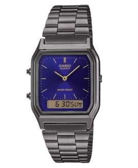 Reloj Anadigi Casio Collection  AQ-230EGG-2AEF brazalete acero ip.gris