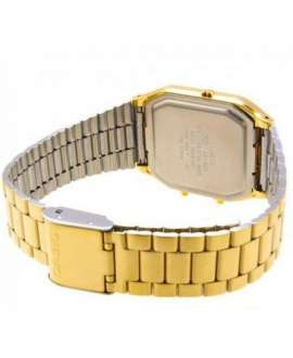 Casio Collection Anadigi AQ-230GA-9DMQYES dorado con brazalete