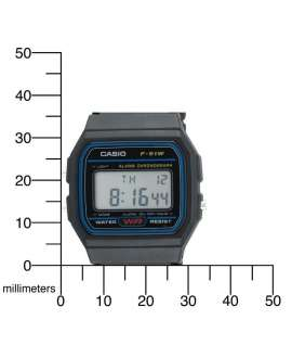 Casio Collection F-91W-1YER todo resina negra