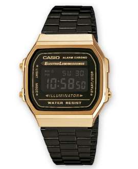 Casio Collection Retro Unisex A168WEGB-1BEF dorado/negro